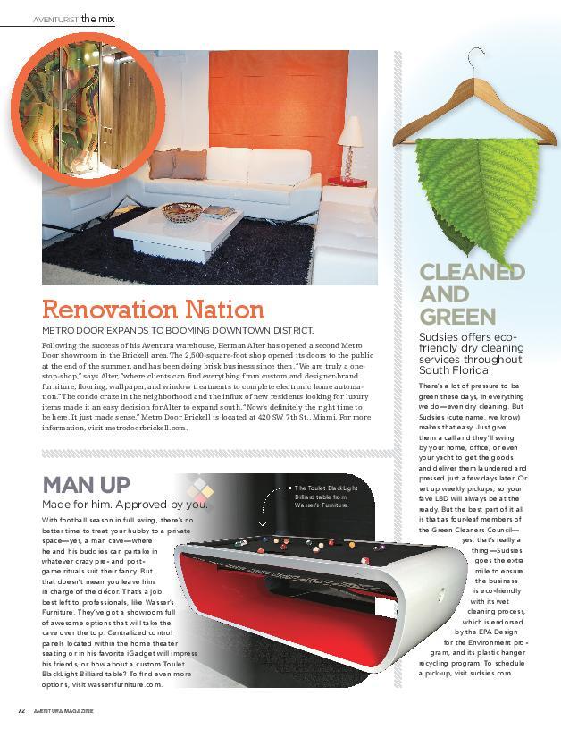 Sudsies in Aventura Magazine, Nov 2014
